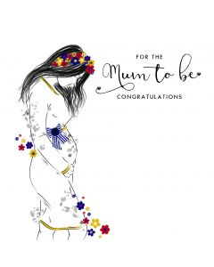 For the Mum to Be, Congratulations Card