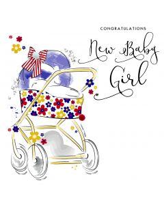 Congratulations New Baby Girl Card