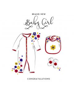 Brand New Baby Girl Card