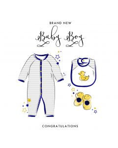 Brand New Baby Boy Card