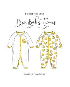 Double the love, New Baby Twins Card