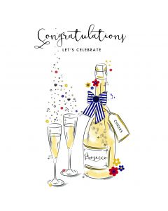 Congratulations, Let's Celebrate Card