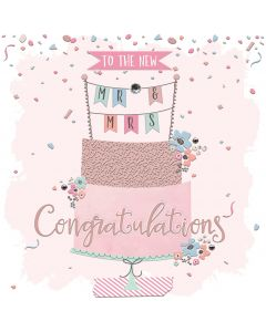 To the new Mr & Mrs, Congratulations Card