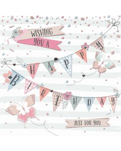 Wishing you a Happy Birthday, just for you card