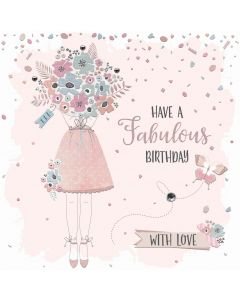 Have a Fabulous Birthday, with love