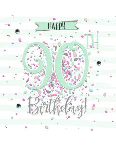 Happy 90th Birthday Card