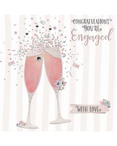Congratulations you're engaged. With love