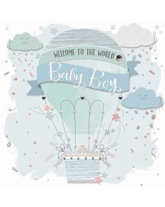 Welcome to the World Baby Boy Card
