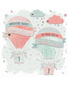 Adventure awaits, Congratulations on your new Baby Twins