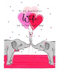 To my wonderful Wife on Valentine's Day