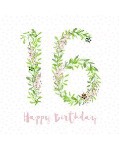 Happy Birthday - 16 card