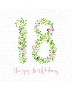 Happy Birthday - 18 Card
