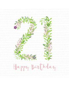 Happy Birthday - 21 Card