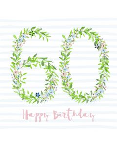 Happy Birthday - 60 Card