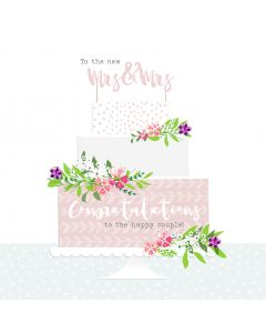 To the new Mrs & Mrs, Congratulations to the happy couple card