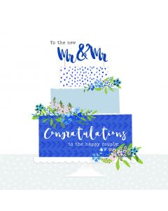 To the new Mr & Mr, Congratulations to the happy couple card