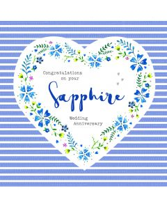 Congratulations on your Sapphire Wedding Anniversary Card