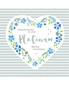 Congratulations on your Platinum Wedding Anniversary Card