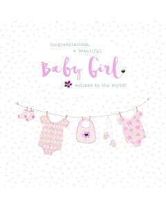 Congratulations, a beautiful Baby Girl. Welcome to the world card
