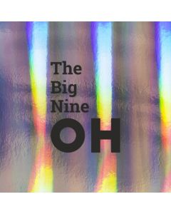 The Big Nine OH - Holographic Birthday Card