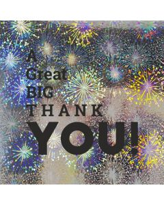 A Great BIG THANK YOU!  - Holographic Thank You Card