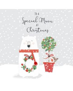To a Special Mum at Christmas Card