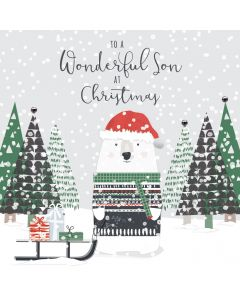 To a Wonderful Son at Christmas Card