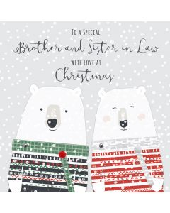 To a Special Brother and Sister in Law with Love at Christmas Card