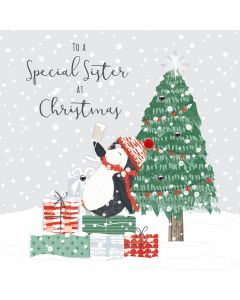 To a Special Sister at Christmas Card
