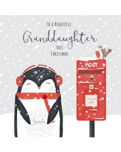 To a Beautiful Granddaughter this Christmas Card