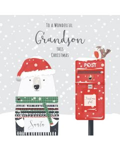 To a Wonderful Grandson this Christmas Card