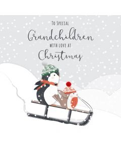 To Special Grandchildren with Love at Christmas Card