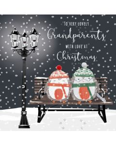To very lovely Grandparents with Love at Christmas Card