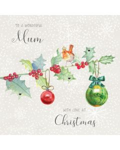 To a wonderful Mum, with love at Christmas