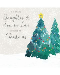 To a special Daugher & Son in Law, Merry Christmas