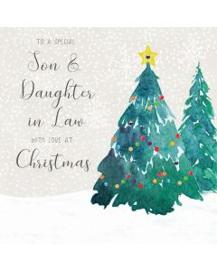 To a special Son & Daughter in Law, Merry Christmas