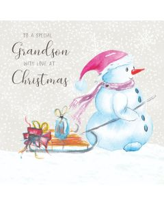 To a special Grandson, with love at Christmas