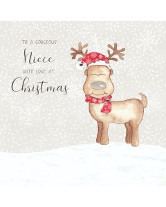 To a gorgeous Niece, with love at Christmas