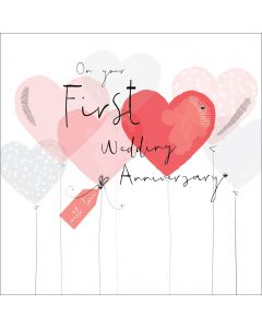 On your First Wedding Anniversary