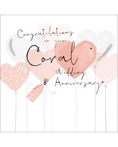 Congratulations on your Coral Wedding Anniversary