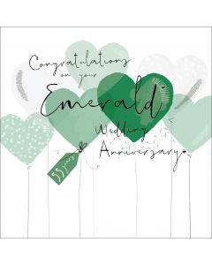 Congratulations on your Emerald Wedding Anniversary