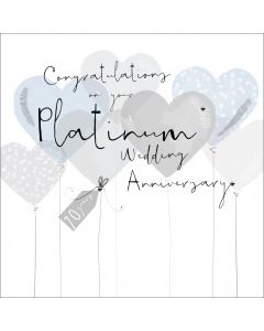Congratulations on your Platinum Wedding Anniversary