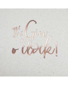 It's Gin o'clock card