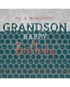 To a wonderful Grandson, Happy Birthday Card