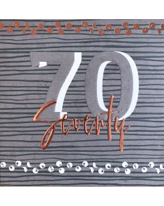 Seventy - 70th Birthday Card