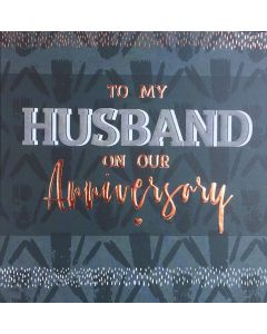 To my Husband on our Anniversary - Husband Anniversary Card
