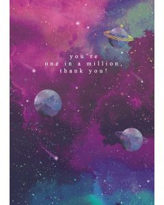 You're one in a million, thank you!