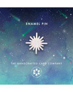 White Glitter Star Enamel Pin Badge