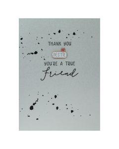 Thank you BESTIE you're a true friend - Enamel Pin Card