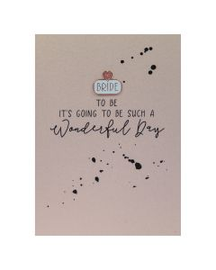 BRIDE to be it's going to be such a wonderful day - Enamel Pin Card
